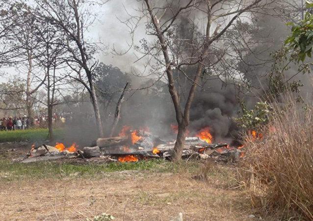 印度空军一架战斗机在该国北部坠毁