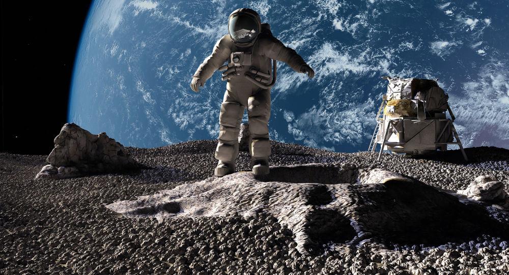 Астронавты на фоне планеты Земля