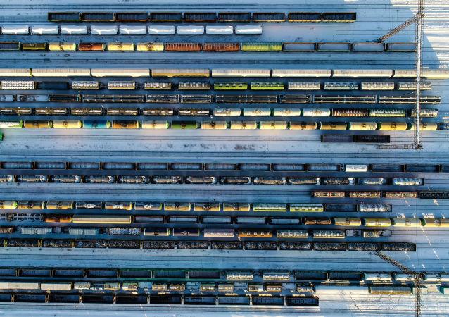 俄罗斯货物列车