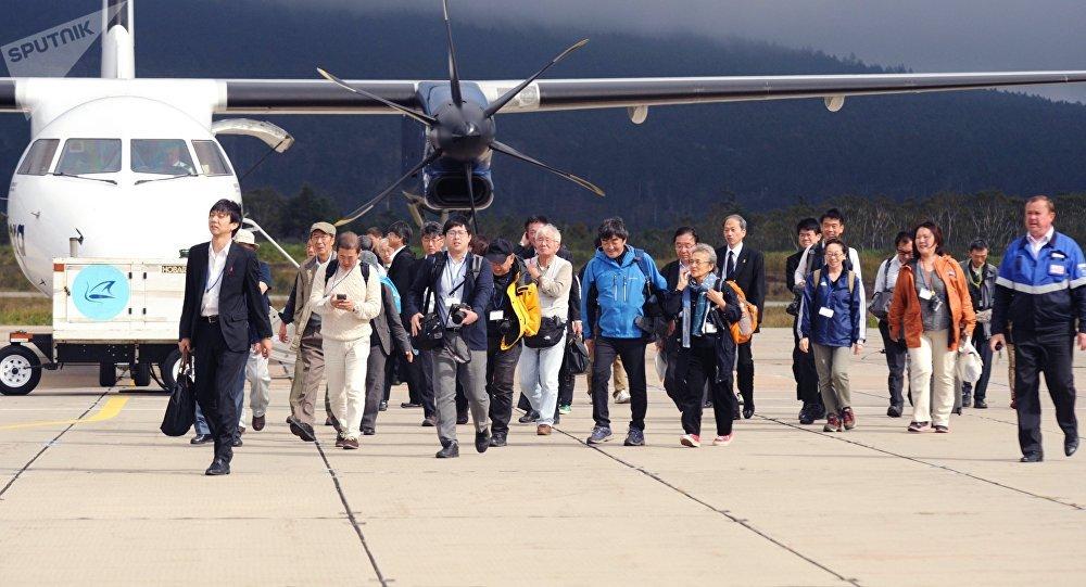 日本旅客在千岛群岛