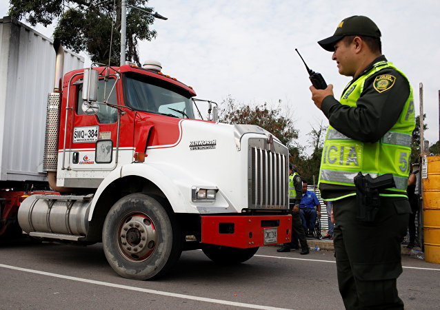 第一批给予委内瑞拉的人道主义救援物资运到了哥伦比亚