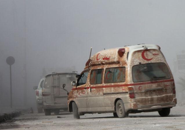 叙利亚救护车(资料图片)