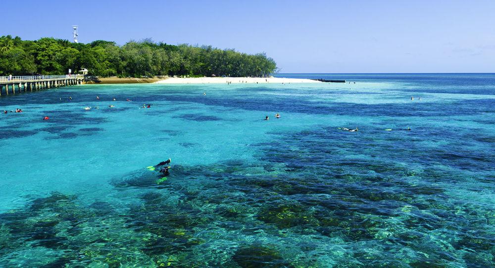 大堡礁北部沙质岛屿