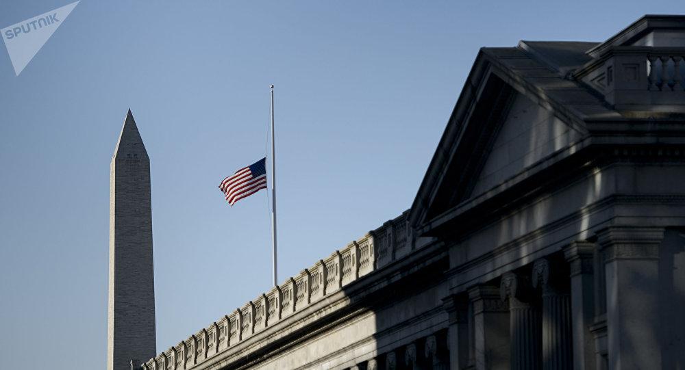 Министерство финансов в США Вашингтоне.