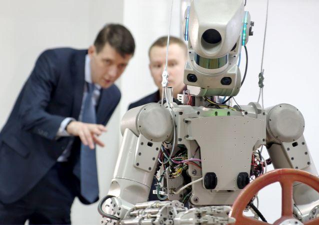 """俄罗斯的 """"费奥多尔"""" 机器人"""
