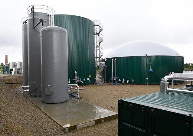 生物天然气工厂(图片资料)