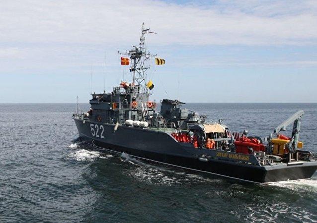 俄海军基地扫雷舰