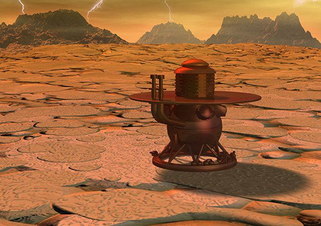 Посадочный модуль на поверхности Венеры