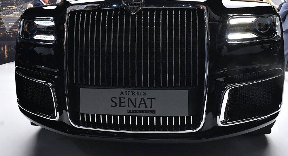 俄工贸部部长在瑞士推介俄产Aurus豪车