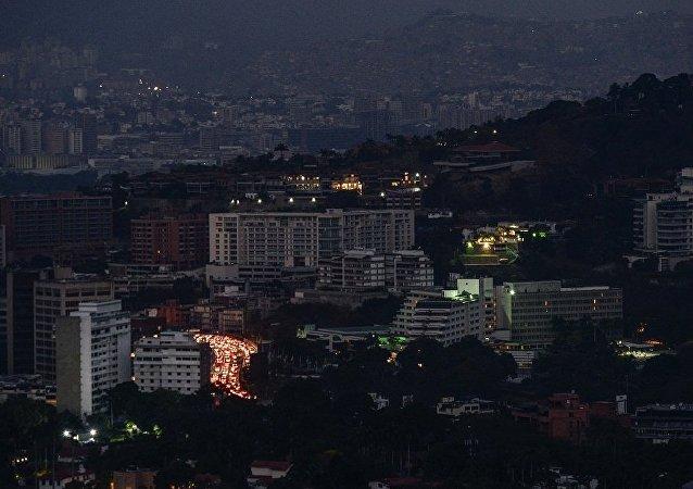委内瑞拉首都使馆区发生断电