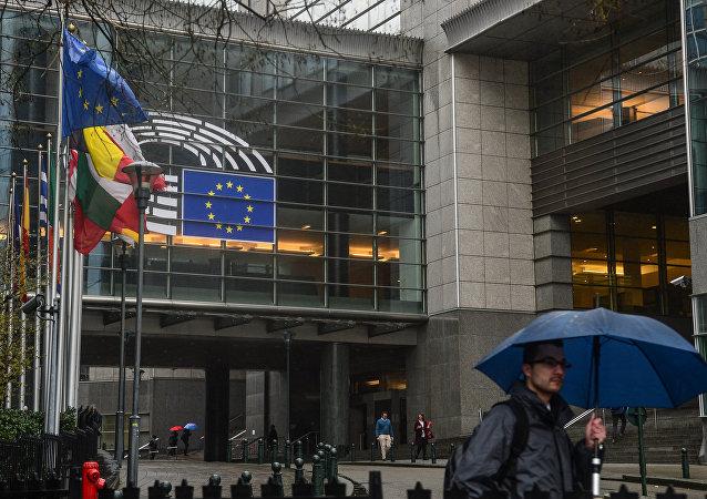 """欧洲议会全体会议投票通过英国""""脱欧""""协议"""