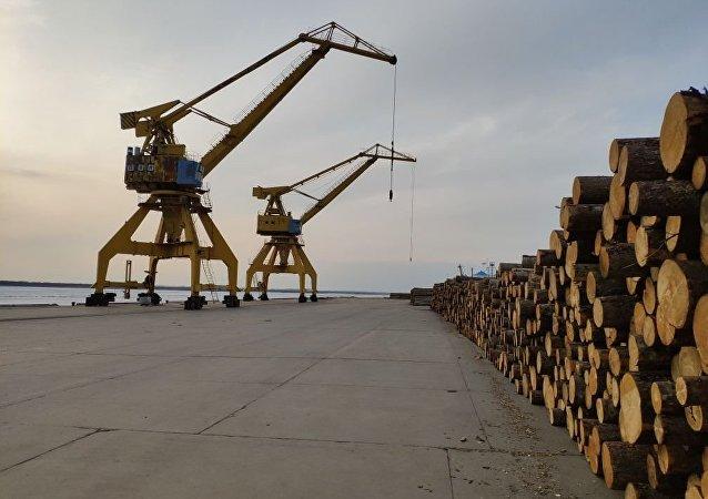 中俄边境同江口岸明水期进出口货物同比上涨5.9%