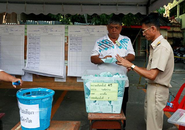 泰国统计选票票数