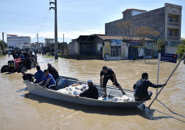 伊朗洪水(资料图片)