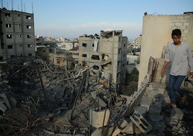 以军空袭加沙地带