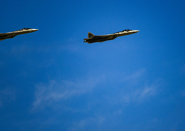 俄联合航空制造集团总裁向马来西亚总理介绍苏-57飞机