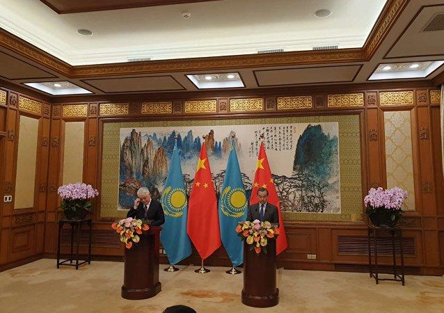 中国外长王毅:中国计划与哈萨克斯坦加强安全合作