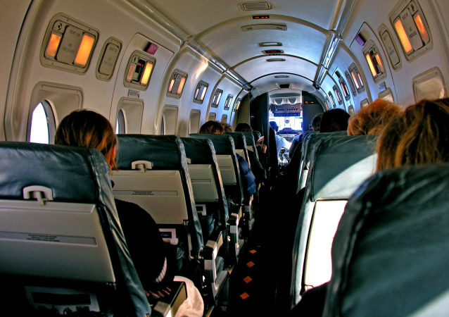 Салон самолета Beechcraft 1900 авиакомпании Air New Zealand