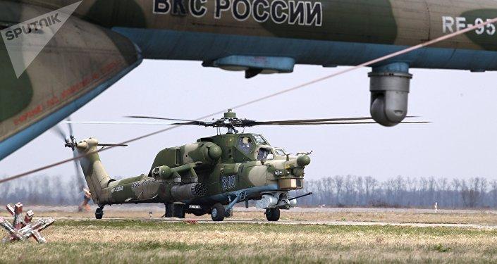 """米-28H""""夜间猎手""""武装直升机"""