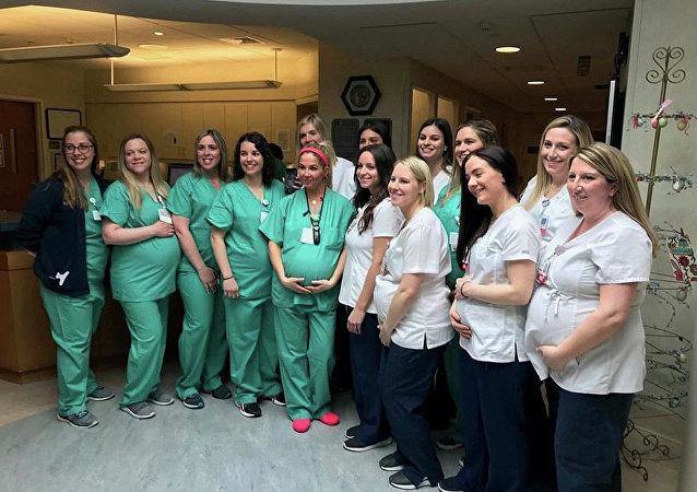 美国一产院有15名护士同时怀孕