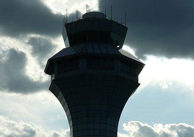 芝加哥市奥黑尔机场的控制塔