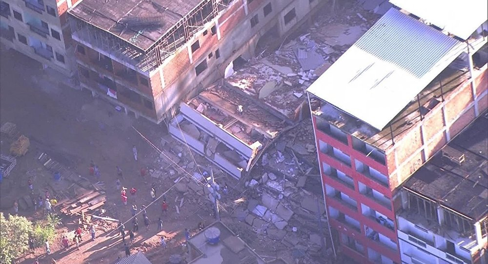 外媒:巴西建筑物倒塌造成的死亡人数上升至22人