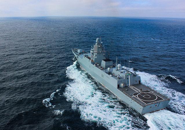 丹麦军方:俄一护卫舰在厄勒海峡与一民用船只相撞
