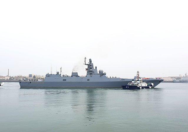 俄罗斯海军在青岛(资料图片)
