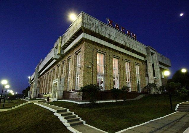 俄罗斯滨海边疆区哈桑火车站