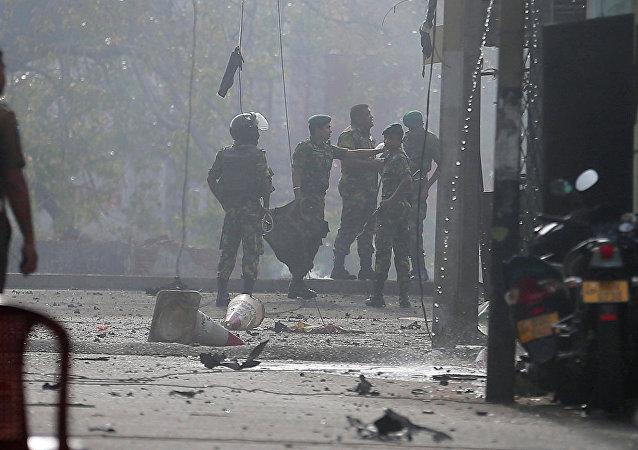 斯里兰卡东部爆炸地区发现4具尸体 可能是自杀式袭击者