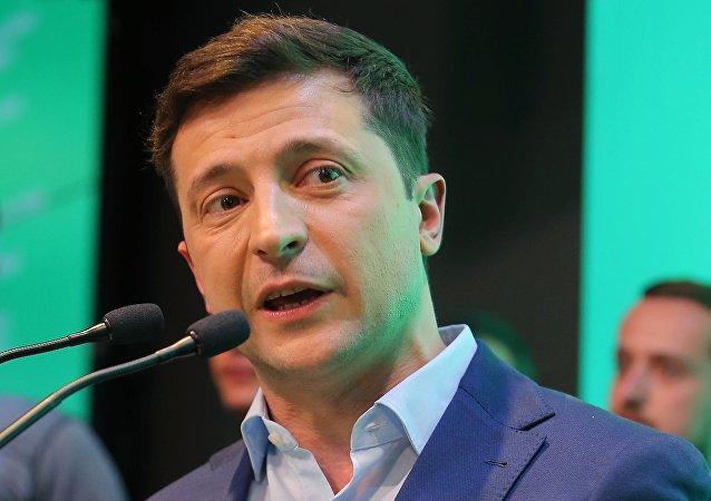 Брифинг В. Зеленского после оглашения предварительных итогов голосования