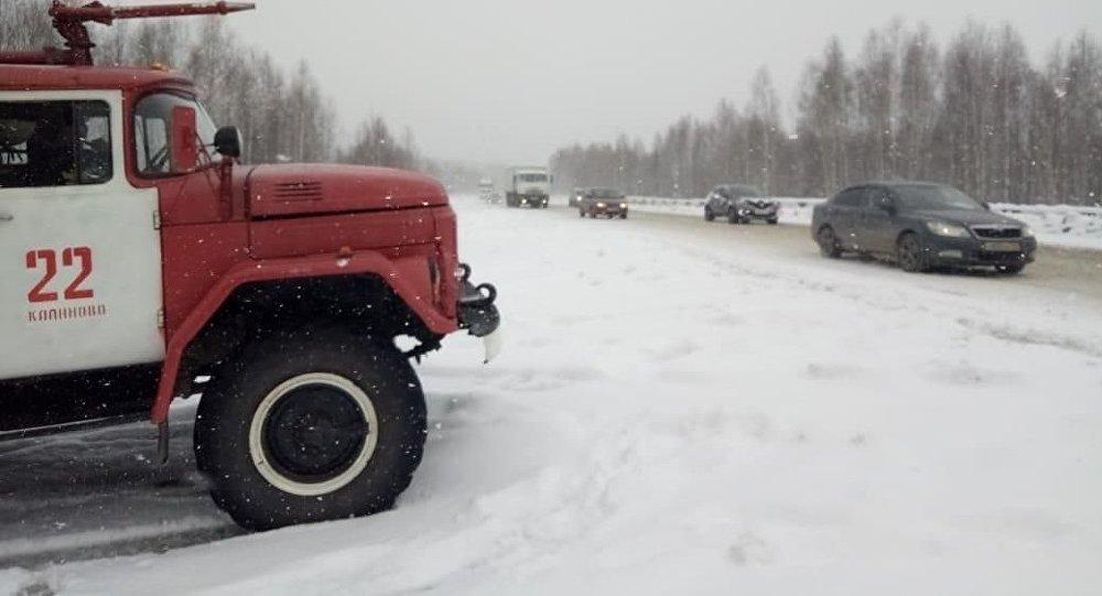 春天的第60天乌拉尔再次降雪