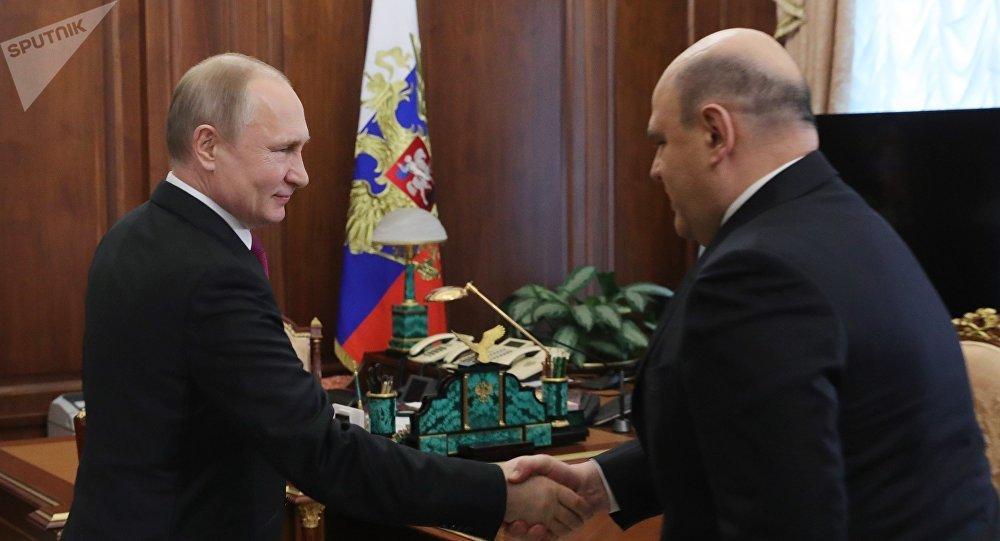 Президент РФ В. Путин встретился с главой ФНС М. Мишустиным