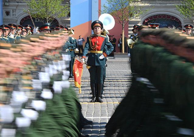 莫斯科红场已举行胜利日阅兵总彩排