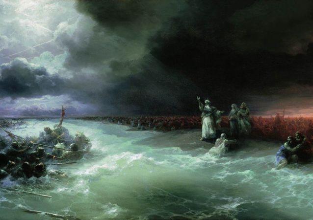124年前沉船上发现艾瓦佐夫斯基油画