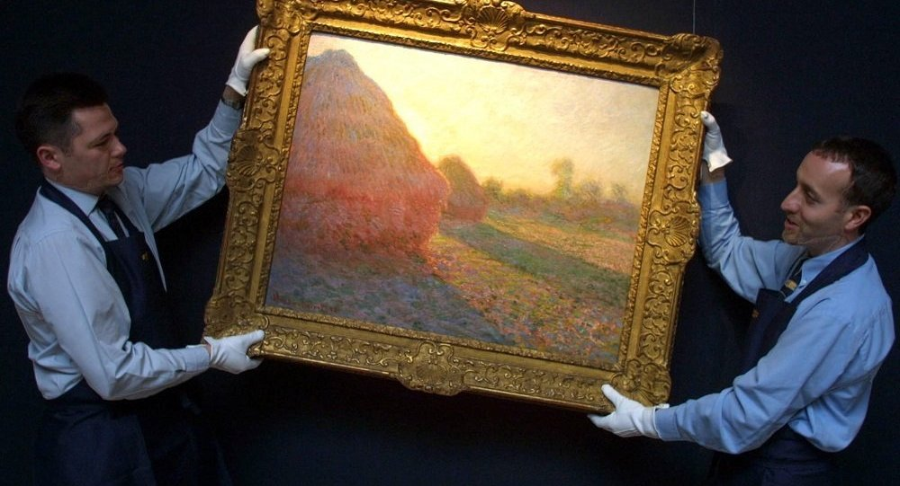 莫奈画作《干草堆》在苏富比拍出1.1亿美元天价