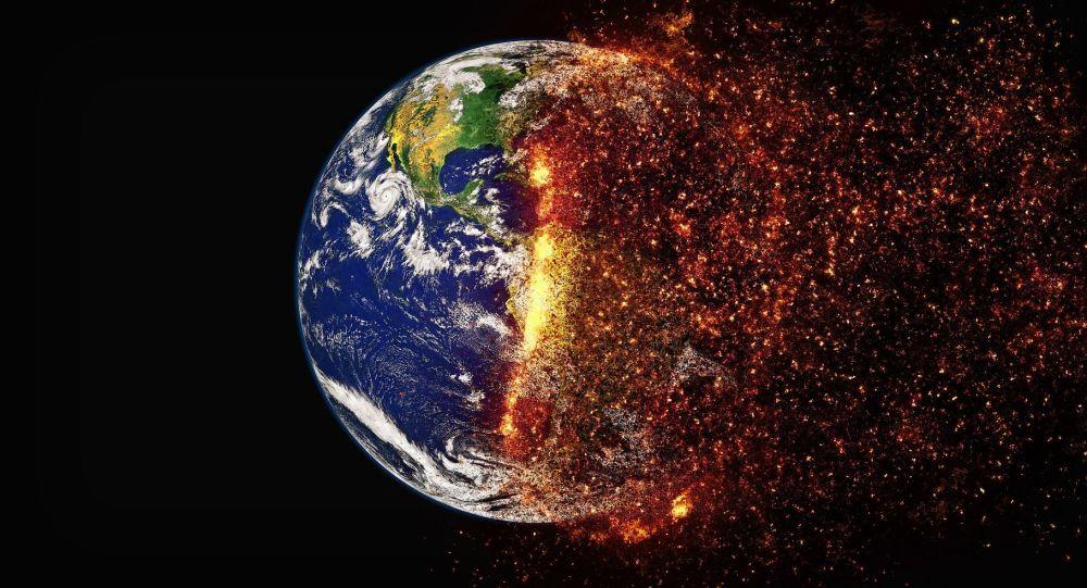 Аллегорическое изображение изменения климата Земли