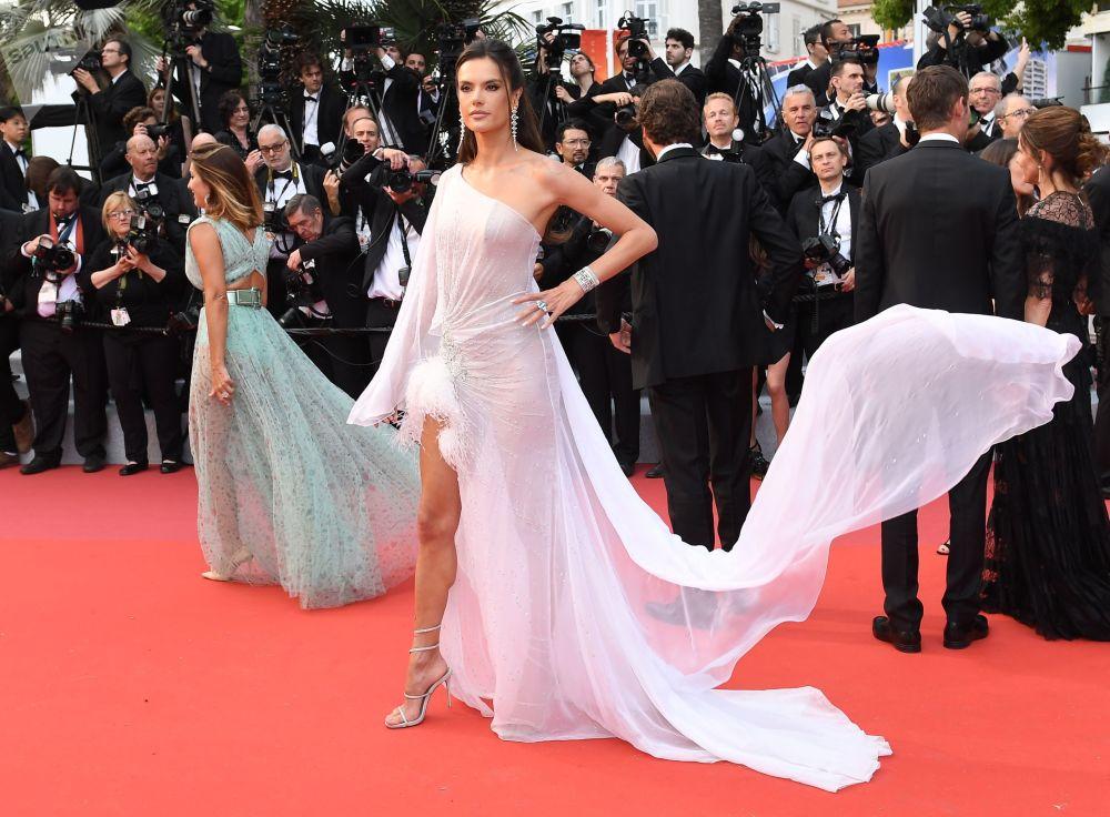 第72戛纳国际电影节开幕式红毯上的巴西超模、演员亚丽珊德拉·安布罗休