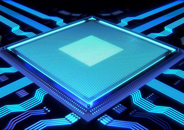 Микрочип компьютерной схемы
