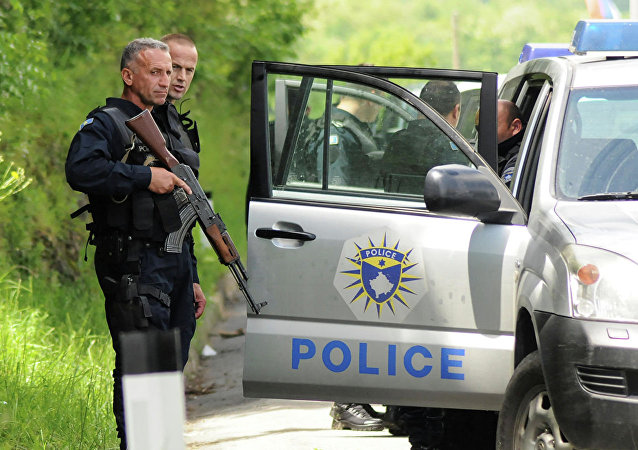 科索沃警察部队在梅托希亚(2019年5月28日)
