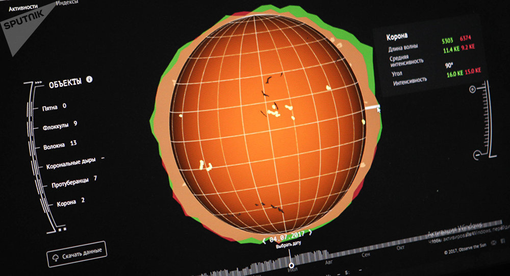 太阳表面出现三年来最强活动