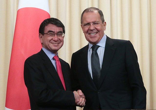日本外相河野太郎:俄日关系出现积极进展