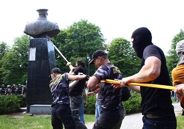 乌克兰民族主义者在哈尔科夫