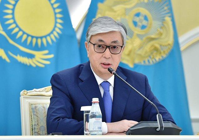 哈萨克斯坦总统卡西姆•朱马特•托卡耶夫