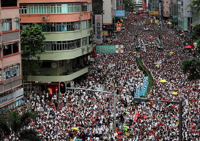 俄外交部呼吁俄公民避免前往香港人流密集地区