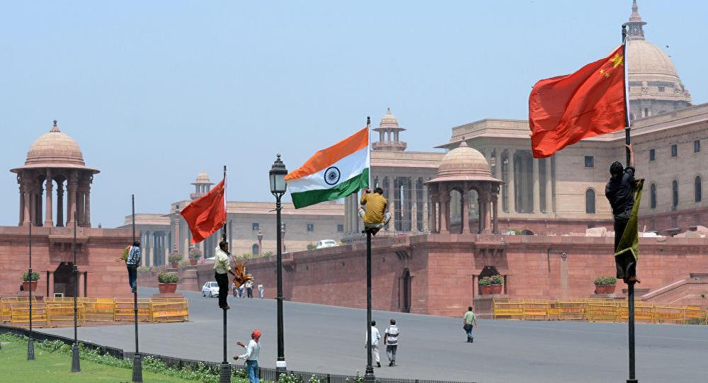 中国与印度国旗