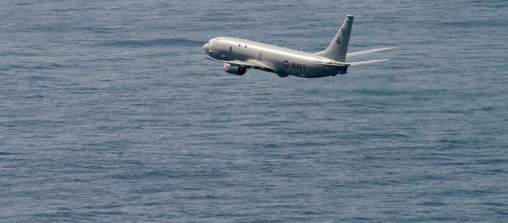 """美国P-8""""海神""""侦察机"""
