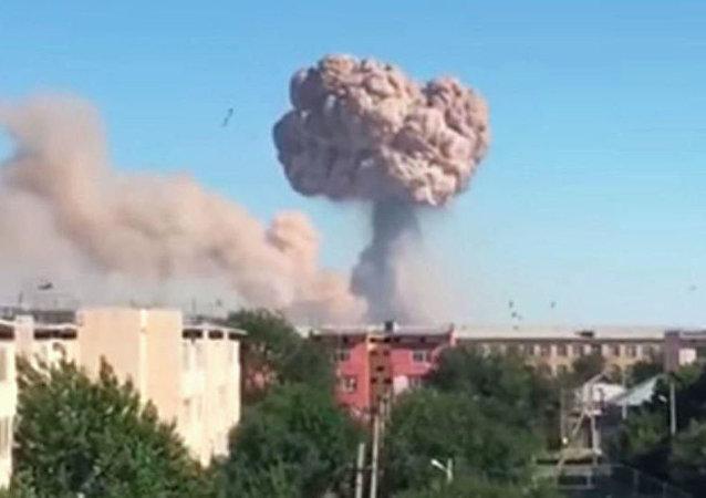哈卫生部:哈萨克斯坦军火库爆炸后15人正接受重症监护