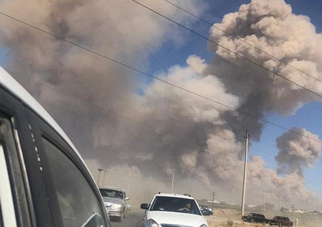 哈总理:哈萨克斯坦南部军火库爆炸事故的遇难人数增至2人