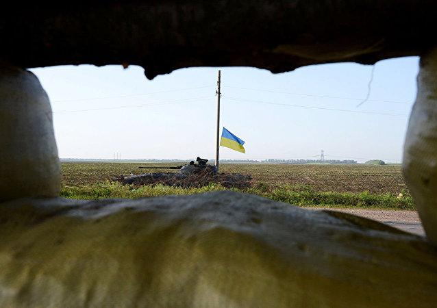 乌克兰坦克在顿巴斯